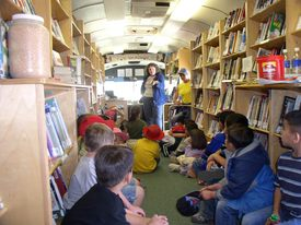 Bookmobile interior